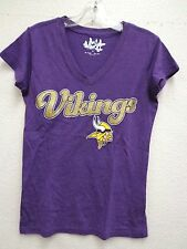 Minnesota Vikings Womens M Touch Purple Glitter Tee Shirt