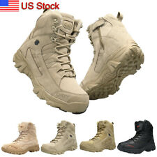 Men's Outdoor Hiking Combat Military Boots Shoes for Camping Tactical Desert