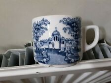 Maddock teacup Ultra Vitrified blue and white cup