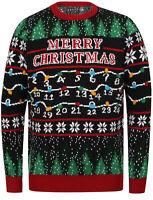 Season's Greetings Men's Xmas Lights Novelty Christmas Jumper Sweater