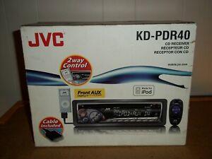 JVC KD-PDR40 CAR STEREO CD RECEIVER. (MIB)