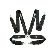 """Takata Race Seat Belt 4 Point FIA Approved Drift 3"""" ASM Snap On Harness - Black"""
