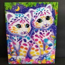 Lisa Frank Leopard Cubs Folder 2 Pocket 3 Ring Portfolio Sasha and Shanti