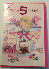 Simon Elvin Happy 5th Birthday Greeting Card for Girls You're 5 Today!