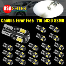 20X 6000K White Canbus Error Free T10 Led Dome Map License Interior Lights Bulb