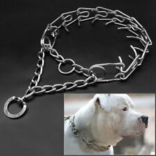 Safety Pro Metal Pinch Adjustable Dog Training Chain Collar Prong Pet Choke X XL