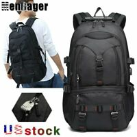 15.6inch Laptop Men Anti theft Backpack Travel Rucksack USB Charge School Bag US