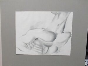 TED FUSBY NUDE MAN ORIGINAL PENCIL DRAWING DATED 1984 (UNTITLED).