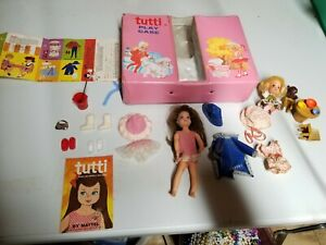 BARBIE TUTTI w/ Pink Play Case - Outfits Shoes etc shop kin extra vintage