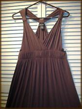SPENSE Dark Chocolate Brown Knit Dress (M) Sexy Surplus Racer Back 34/36 bust