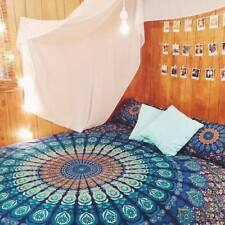 Indian Mandala Bed Sheet 100% Cotton Bedding Hippie Queen Size With 2 Pillow Set