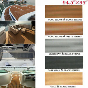 "95""Faux Teak EVA Foam Boat Decking Sheet Mat Large Deluxe Marine Yacht Flooring"