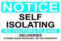 COVID Virus self isolating NOTICE quarantine Signs officeS businesses DECAL 19