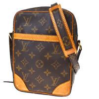 Auth LOUIS VUITTON Danube Shoulder Bag Monogram Leather Brown M45266 85MD970