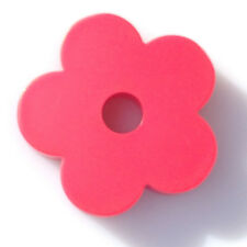 """Red """"Doughboy""""/ 5-Petal Flower Shape 45 RPM Turntable Adapter"""