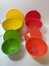 Avon Plastic Mixing Bowls W/Lids Microwave/Dishwasher Safe set of 4