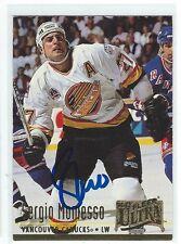 Sergio Momesso Signed 1994/95 Fleer Ultra Card #384