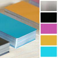 100 PCS Blank Aluminium Metal Name Cards Sublimation Dye Business Marks Printing