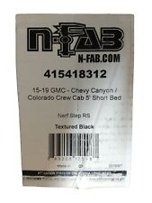 N-FAB Nerf Step RS Cab-Length Step Bars 2015-20 Canyon Colorado Crew Cab 5' BED