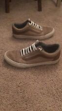 mens vans shoes size 9.5 beige brown and white great shape no defects suede