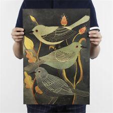 Nightingale Vogel Kraftpapier Poster Kunden Schlafzimmer Hintergrund Wandaufkleb