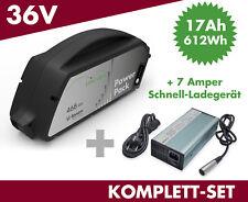 SET E-Bike Akku Power Pack 17 Ah 612 Wh 36V Bosch Classic Unterrohr + Ladegerät