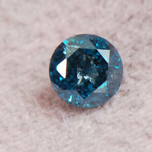 100% Certified Excellent Round Cut 0.16Ct Natural Earthmined Blue Loose Diamond