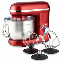 Electric 5.5L 800W Red Food Stand Mixer Mixing Bowl with Splash Guard Processor