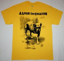 ALICE IN CHAINS DOG GRUNGE SEATTLE PEARL JAM SOUNDGARDEN HOLE NEW YELLOW T-SHIRT