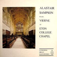 Alistair Sampson Plays Vierne  Eton College Chapel 1976 NEAR MINT + insert