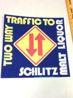Schlitz beer sign tacker sign neo-glo 75' malt liquor bull bar vtg brewery FJ2