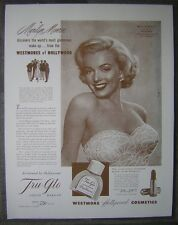 "1953 ""Niagara"" starring Marilyn Monroe 11x14"" Westmore of Hollywood Cosmetics Ad"