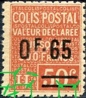 """FRANCE COLIS POSTAUX N° 60 NEUF** Variété """"VOIR DESCRIPTIF"""" SIGNÉ"""