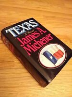 Texas by James A Michener, Random House NY,1985,1st Edition 1st Print Dust Cover
