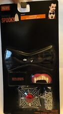 Vampire Accessory Kit - bowtie medallion dentures - HALLOWEEN costume - NIP