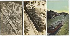 2 1910 & 1940's Manitou Incline Railway  CO Real Photo Postcards   RPPC