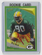 2009 PACKERS BJ Raji signed Police card #19 AUTOGRAPHED AUTO RC Green Bay