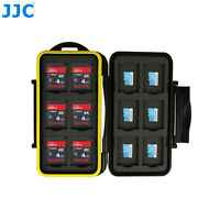 JJC Anti-Shock Memory Card Case Storage Holder for 12 SD & 12 Micro SD/TF Cards