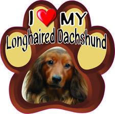 I Love My Longhaired Dachshund #268 Bumper Sticker