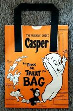 Vintage Casper the friendly Ghost trick or Treat paper small Bag 1970s