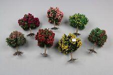 ZC1459 FR Décor Maquette diorama Ho lot 7 arbre fruitier et fleur 9 cm train