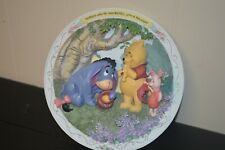 Bradford Exchange Winnie The Pooh And Friends Plate -Nobody Can Be Uncheered
