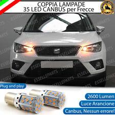 COPPIA LAMPADE PY21W BAU15S CANBUS 35 LED SEAT ARONA FRECCE ANTERIORI NO ERROR