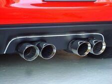 C6 Corvette 2005-2013 Solid NPP Aluminum Exhaust Plate-Black W/ Chrome Trim