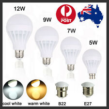 AU E27 B22 Bayonet 5W 7W 9W 12W LED Globe Light Lamp Bulb Warm/White AC220-240V