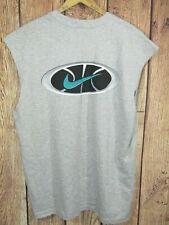 Vintage 90s Nike Basketball Sleeveless T Shirt Mens L Gray USA Made