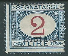 1915 LIBIA SEGNATASSE 2 LIRE MH * - I45-8