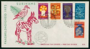 Mayfairstamps Suriname FDC 1972 Paasweldadigheid Combo First Day Cover wwp_64335