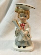 1950s Vintage Lefton Graduation Graduate Girl Woman Porcelain Figurine 01798