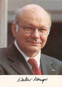Walter Momper SPD ex Regierender Bürgermeister von Berlin  Autogrammkarte
